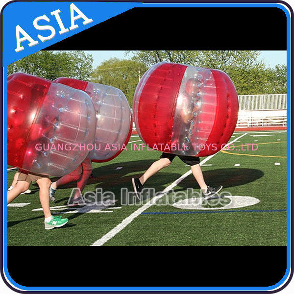 100% PVC Inflatable Bumper Ball ,  Half Red Bubble Soccer , Loopy Balls , Soccer Bubble Balls pemasok