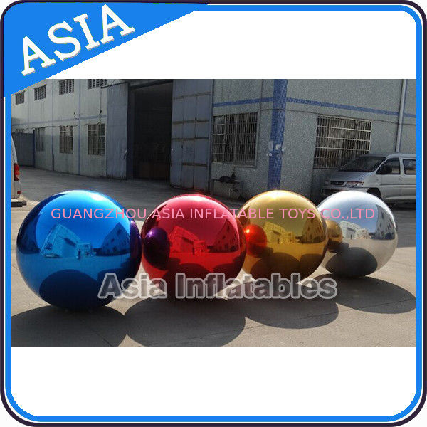 Filled Air Mirror Balloons Ball PVC , Advertising Silk  Ball pemasok