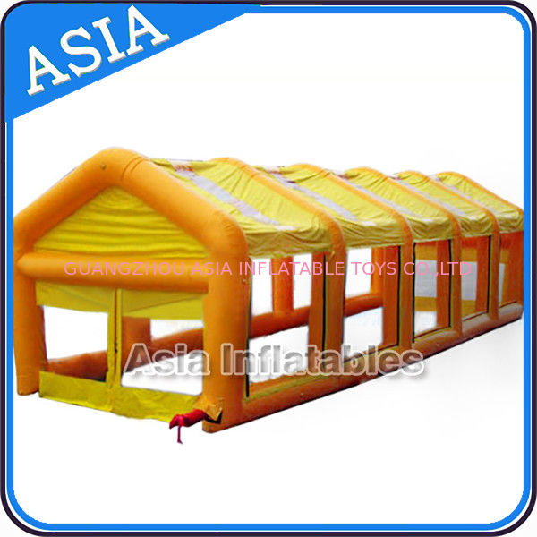 Dismantle PVC Large Tent Inflatable Paintball Field Easy To Store pemasok