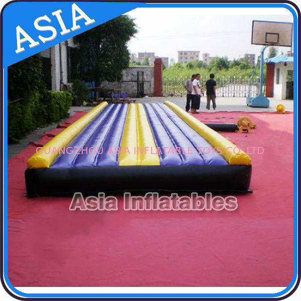 Yoga Training Inflatable Tumble Mattress With Constant Blower pemasok