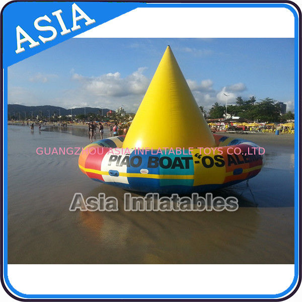 UL Approval 4m Floating Spin Inflatable Boats / Water Discoboat For Water Game pemasok