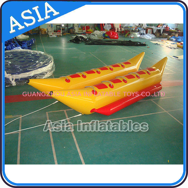 Water Games Inflatable Boats Double Tubes Flying Fish Inflatable Banana Boat pemasok