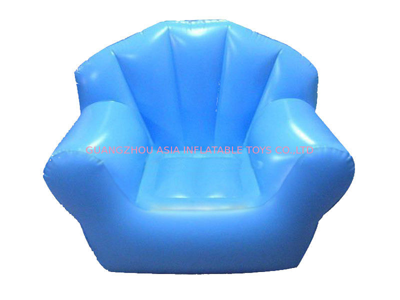Comfortable Light Blue Pvc Tarpaulin Inflatable Chair Sofa For One People pemasok