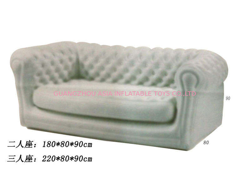 2 Seater Or 3 Seater  Gray Inflatable Sofa For Kids , Custom Inflatable Couches pemasok