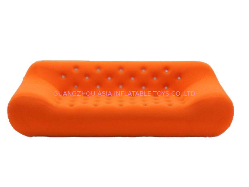 Home Chesterfield Orange Inflatable Sofa For Watching Tv pemasok