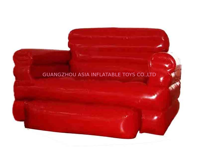 Home Red Pvc Tarpaulin Folded Inflatables Furniture Couch Sofa For Living Room pemasok
