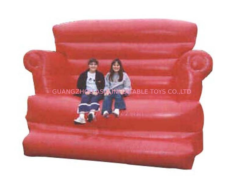 Large Red Design Advertising Inflatable Sofa Furniture , Inflatable Couch Furniture pemasok