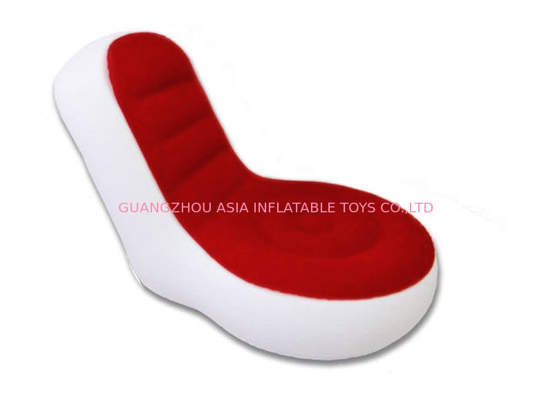 Light Weight 0.6mm Pvc Tarpaulin  Inflatable Chair Sofa With Red And White Color pemasok