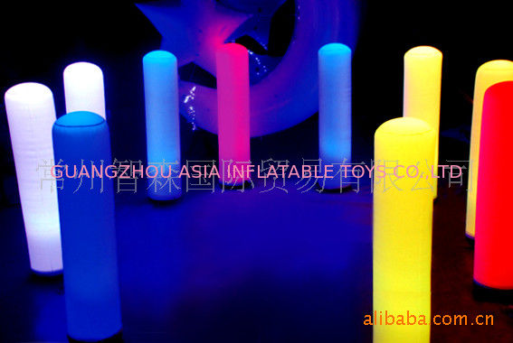 Led Inflatable Pillar Lights For Party / Wedding Decoration pemasok