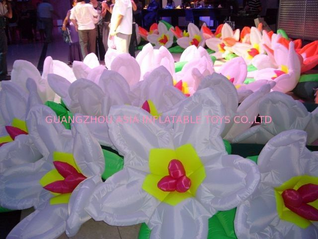 Fashion Lotus Flower Inflatable Lighting For Floating Artificial Decorative pemasok