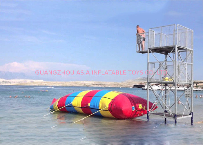 Inflatable Water Pillow , Inflatable Rainbow Water Blob For Water Sports pemasok