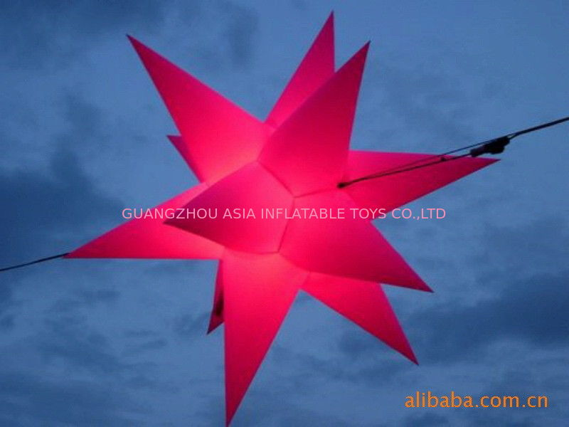 Color Star Inflatable Lighting With Red  For Christmas Decoration pemasok
