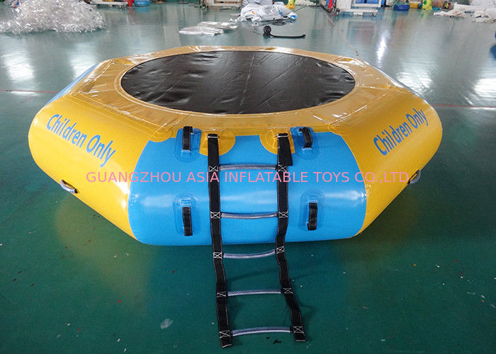 Commercial Water Games Inflatable Crocodile Water Trampoline With 0.9mm Pvc Tarpaulin pemasok