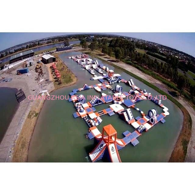 1500D Waterproof 250 People Inflatable Wipeout Course With TUV Certificate pemasok