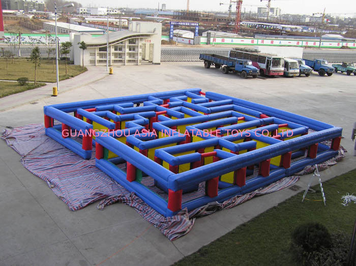 Inflatable Tunnel Maze Game, Inflatable Maze Field For Chilren pemasok