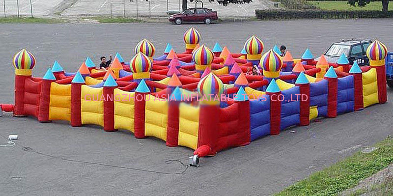 Outdoor Inflatable Maze Games For Outdoor Amusement Park Games pemasok