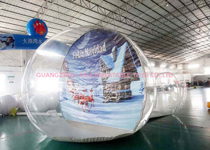 OEM Inflatable Snow Globe with Tunnel for Promotion pemasok