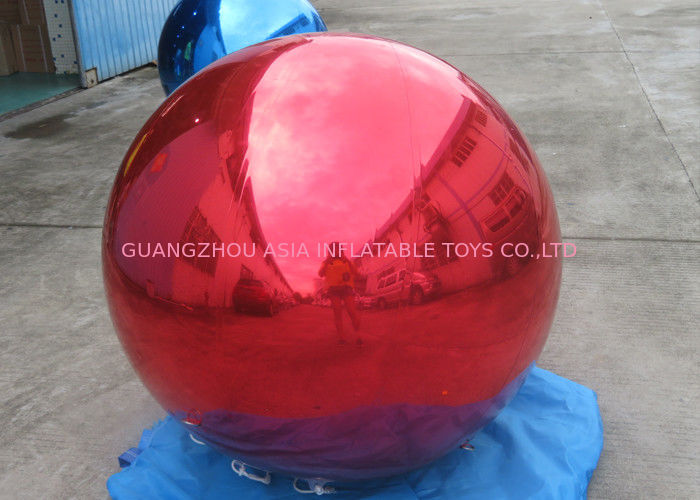 Helium Advertising Inflatables Red Mirror Balloon For Building Decoration pemasok