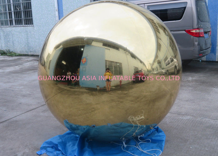 Inflatable Gold Mirror Balloon With Reflection Effect For Decoration On The Floor pemasok