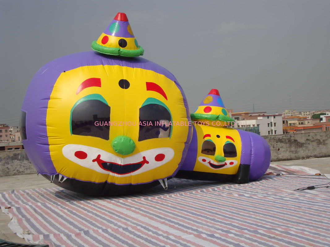 Customized Inflatable Tunnel Maze / Pumpkin-Shaped Tunnel Games pemasok