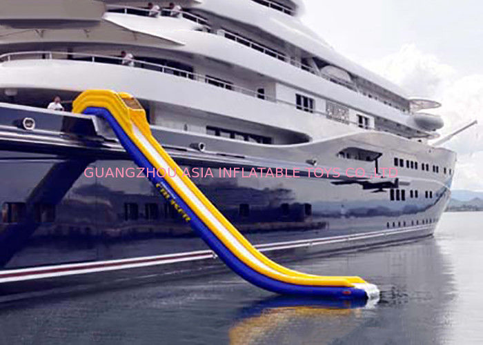 Inflatable Water Floating Games , Inflatable Slide For Yacht Sports pemasok