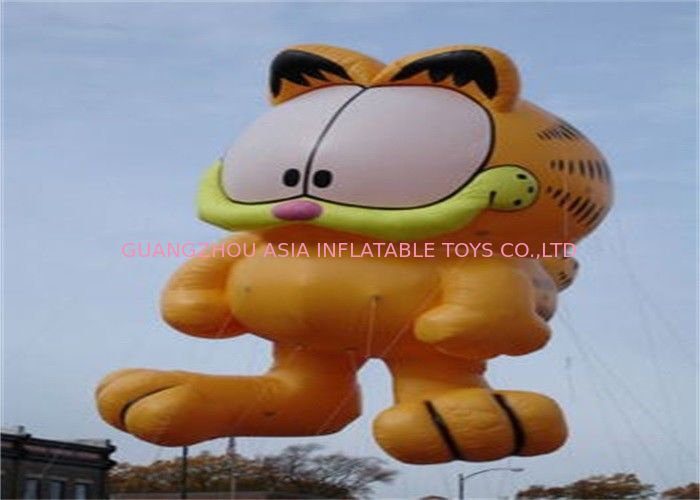 Advertising Inflatable Cartoon Cat Character Balloon , Giant Animals Flying Ball pemasok