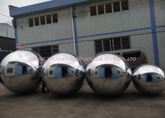 Advertising Mirror Helium Balloon And Silver Mirror Ball Inflatable For Party pemasok