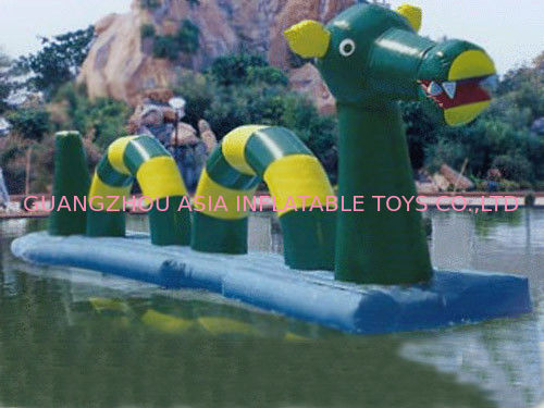 Giant Green Dragon Obstacle Course, Inflatable Water Challenge sports pemasok