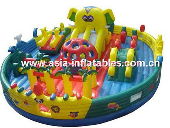 Outdoor Inflatable Jail Design Funland / Prison Design Funcity For Park Rental Games pemasok