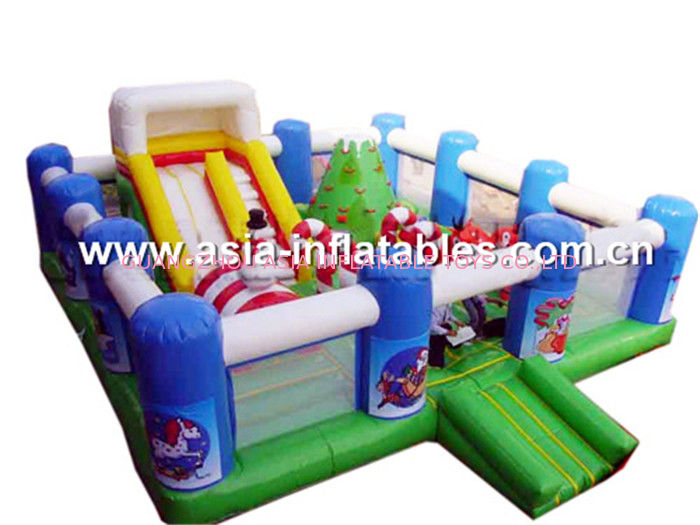 Outdoor Inflatable Playground With Inflatable Slide Inside For Chilren Amusement pemasok
