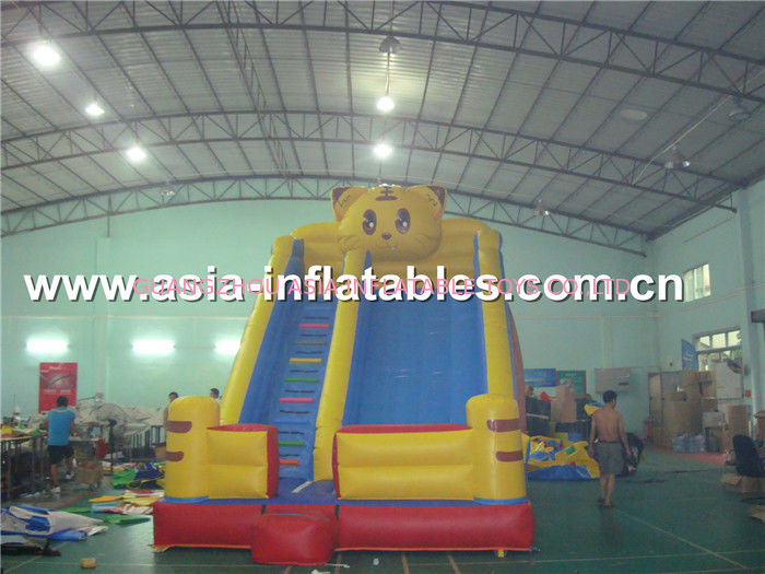 Customized Party Rental Slide In Tiger Desisn For Kids pemasok