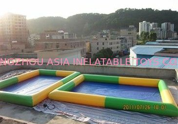 Colored Rectangular Kids Inflatable Pool for Water Park Games Using pemasok