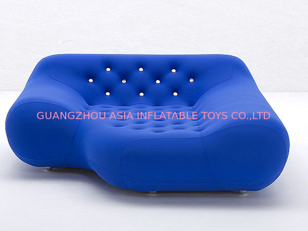 Eco-Friendly Pvc Airtight Advertising Inflatables Air Sofa Chair In Dark Blue Color pemasok