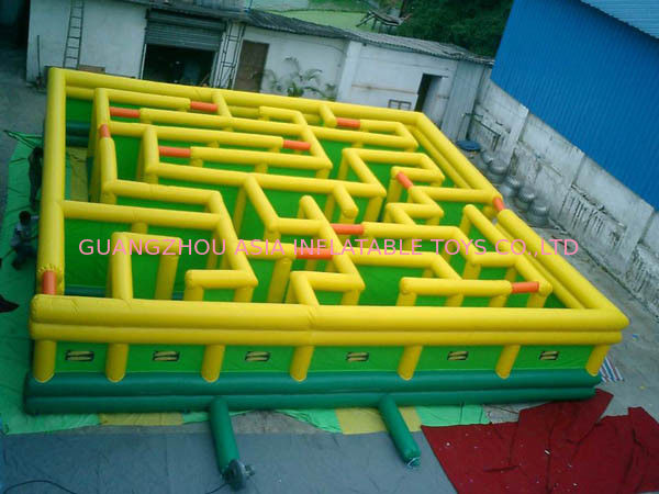 Inflatable Maze Games, Inflatable Tunnel Maze Game For Adults pemasok