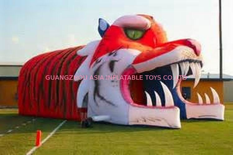 Giant Inflatable Tiger Tunnel, Infaltable Tunnel For Outdoor Advertising pemasok