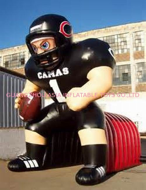 Inflatable Tunnel With NFL Player Model For Event Promotion And Advertising pemasok
