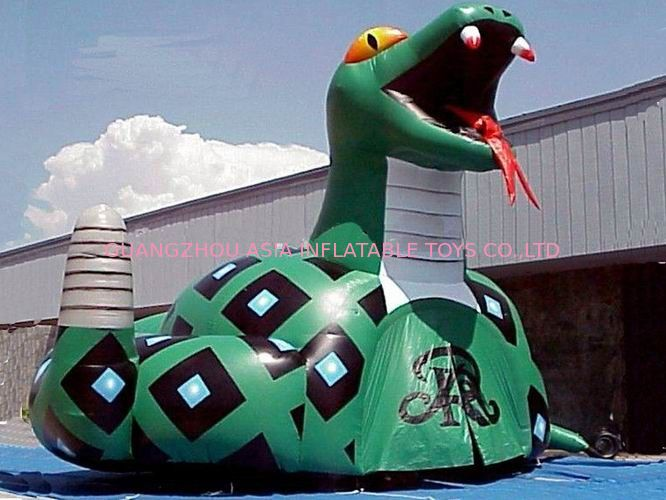 Inflatable Poison Snake Design Tunnel For Outdoor Business Promotion pemasok