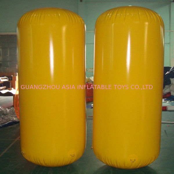 Cylinder Inflatable Buoy Water Games , Inflatable Air Buoy For Swimming Event pemasok