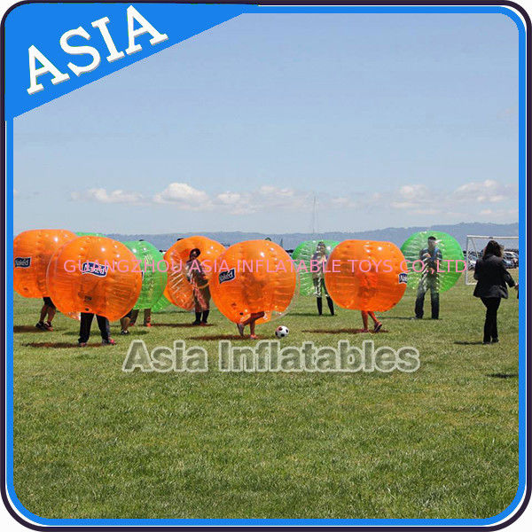 1.0mm PVC Orange Bubble Ball For Football , Bubble Football Ball Toys For Grass pemasok