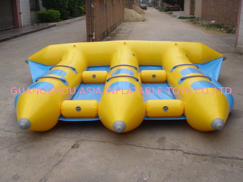 Hot Air Welded Inflatable Flying Fish Boat for 6 Passengers pemasok