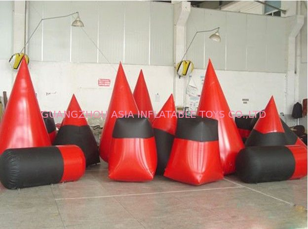 High Density, PVC tarpaulin Inflatable Paint Bunker Trampoline Combo pemasok