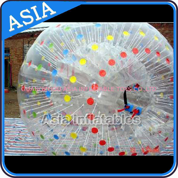 One Entrance Transparent Zorb Ball With Color Dots Used In Water pemasok