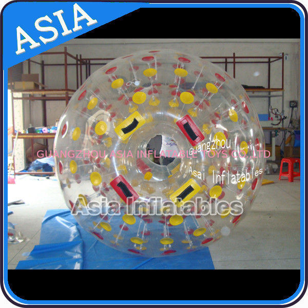PVC / TPU Hand Art Work Color Dots Zorb Ball For Water Sports Games pemasok