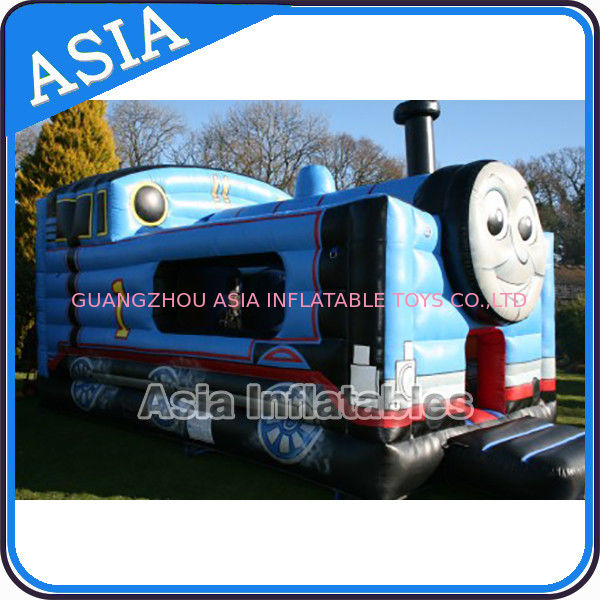 Inflatable Choo Choo Train Tunnel Moonwalk Games For Kids Party Sports pemasok