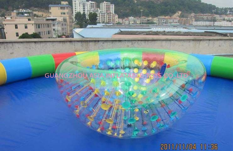 Coco Half Ball / Half Zorb / Floating ball / Inflatable Beach Cocoon for Kids Inflatable Pool pemasok