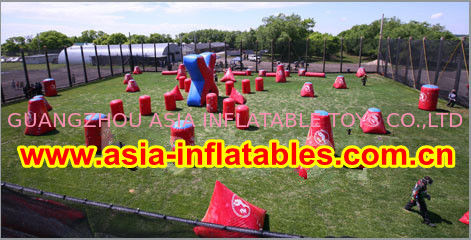 0.6mm PVC Inflatable Paintball bunker for paintball Sports pemasok