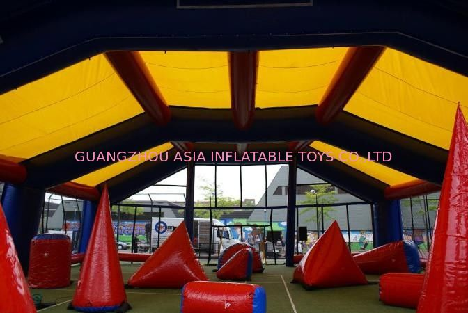 Water proof and fire resistant Inflatable paintball bunker tent pemasok