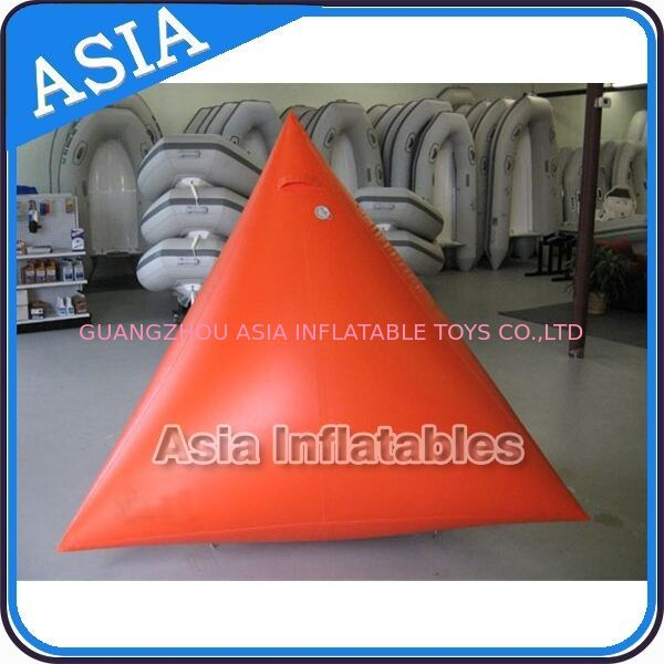 Orange Color Commercial Use  Inflatable Buoy For Water Park Paintball Bunker pemasok