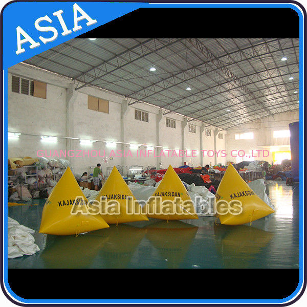 Inflatable Triangular Shape Marker Floating Buoy For Advertising And Water Games pemasok