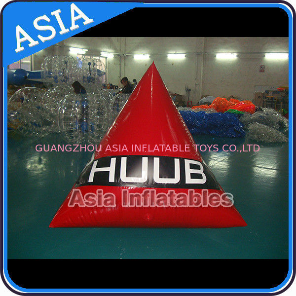 Inflatable triangle swim buoys toy for water park pemasok